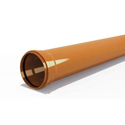 Immagine di Tubo PVC, per fognature e scarichi interrati, SN 4, UNI - EN 1401, IIP, Ø125 mm, spessore 3,2 mm