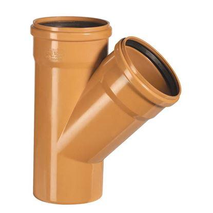 Immagine di Braga Semplice 45° PVC, per fognature e scarichi interrati, SN 4, EN 1401, Ø125 mm, spessore 3,2 mm