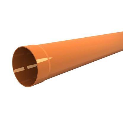 Immagine di Tubo in PVC, per scarichi civili ed industriali F/N, colore arancio, Ø mm 125x3 mt