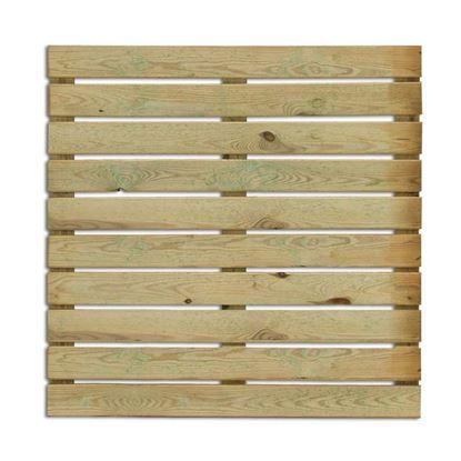 Immagine di Pavimento Kiwi, legno di conifera impregnato in autoclave, 100x100 cm