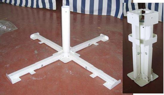 Base in acciaio per ombrellone pieghevole regolabile per tubi Ø