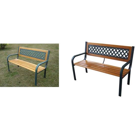 Panchine Da Giardino Legno E Ghisa : Panchina posti legno ghisa cm xh giardino ottimax