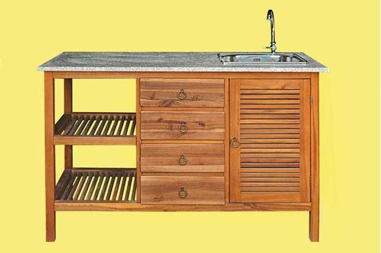 Lavabo polvere di marmo per esterno la scelta giusta - Mobile terrazzo legno ...