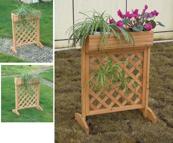 Grigliato in legno con fioriera 58x30xh75 cm giardino for Fioriera con grigliato brico