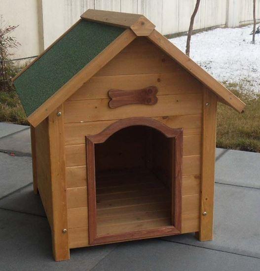 Cuccia per cani in legno 81x90xh85 cm giardino ottimax for Animali da giardino finti