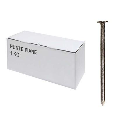 Immagine di Punte piane, scatola trasparente, 1 kg, 14x40 mm