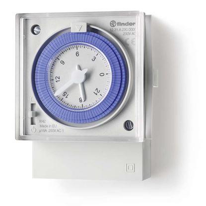 Immagine di Orologio giornaliero, 72x72 mm, 1 NO, 15 min
