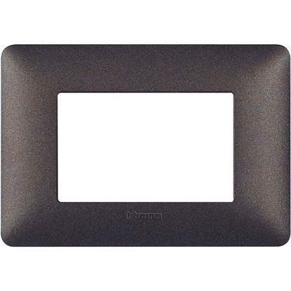 Immagine di Placca 3 posti, Matix, gold