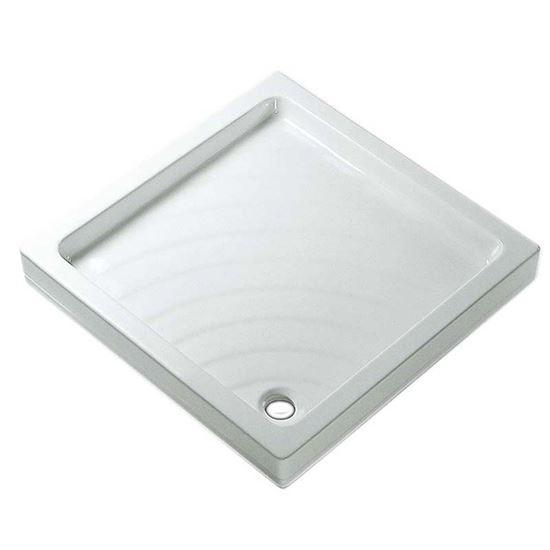 Piatto doccia didone 70x70 colore bianco sanitari ottimax - Posa piatto doccia prima o dopo piastrelle ...