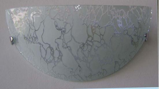 Applique ghiaccio 60w e27 vetro bianco decorato illuminazione