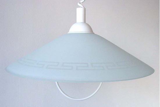 Sospensione greca e27 60 w Ø 40 cm colore bianco illuminazione