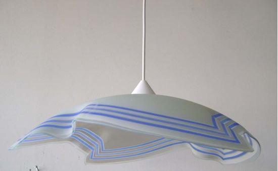 Sospensione Ø 50 cm e27 60 w 4 punte colore blu illuminazione
