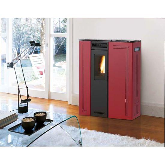 Stufa a pellet Royal Klima Slim 8 kW, volume riscaldabile 280 m³ ...