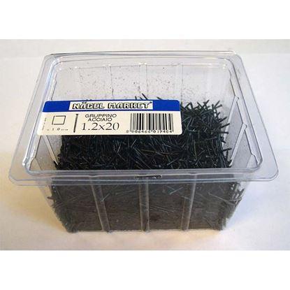 Immagine di Punte a gruppino, scatola trasparente, 1 kg, 1,5x25 mm