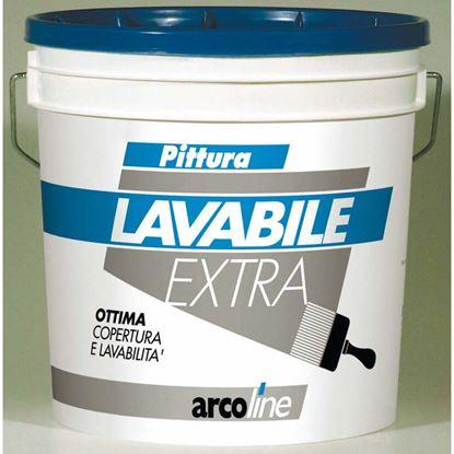 Immagine di Idropittura Arcoline, lavabile, opaca per interni, supercoprente ad alto punto di bianco, effetto velluto, 14 lt