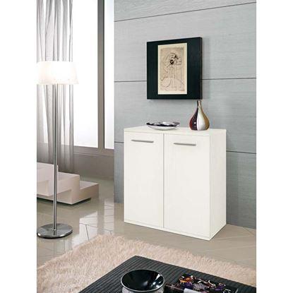 Immagine di Mobile nettuno 2 ante, struttura melaminico 16/22 mm, L80xP36xH82 cm, bianco frassino