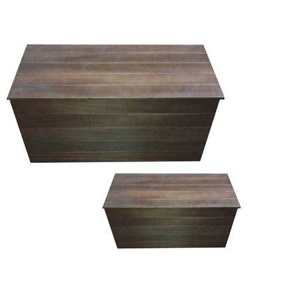 Immagine di 2 Cassapanche in legno, colore noce, 1 misura P33xL76xh34 cm e 2 misura P40xL84xh41 cm
