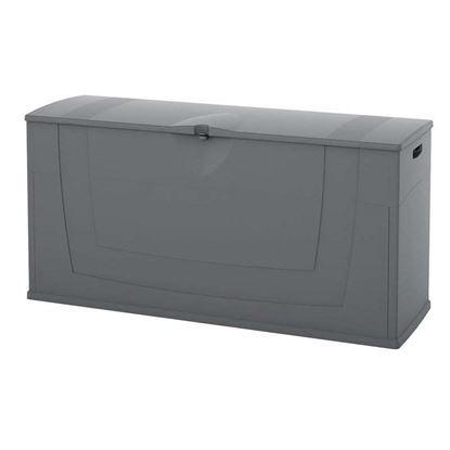 Immagine di Baule in resina, 119x40xh58 cm, colore grigio