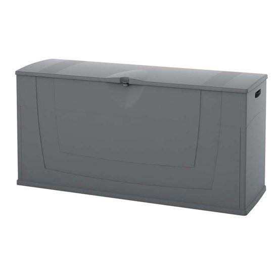 Baule in resina 119x40xh58 cm colore grigio for Baule esterno