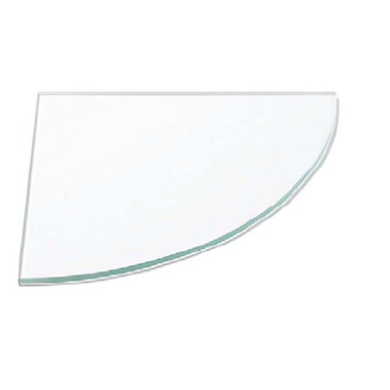 Mensole Di Vetro Angolari.Mensola Vetro Trasparente Angolare 6x250x250 Mm Sistemazione