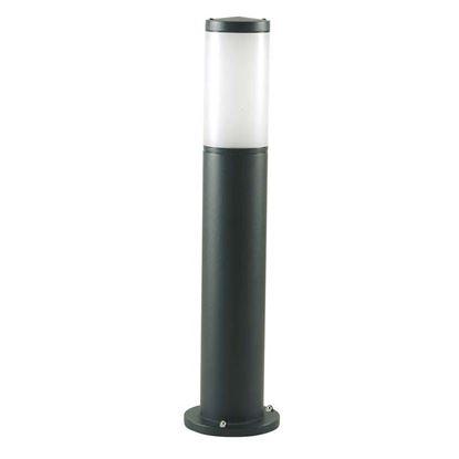 Immagine di Palo con lanterna Fiammifero, diffusore termoplastico opalino, IP43, E27-25 W inclusa, altezza 55 cm, colore nero