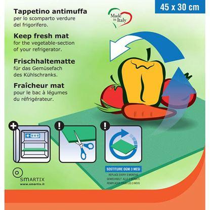 Immagine di Tappetino antimuffa, scomparto verdure del frigorifero, colore verde, 450x300 mm