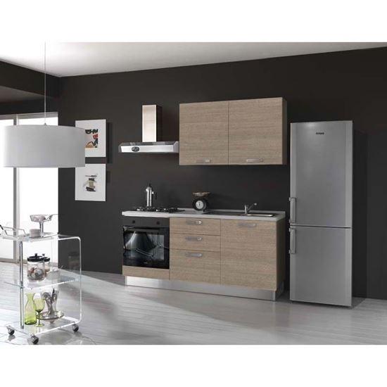 Cucina Serena H204xL180 cm larice grigio no frigo top h 4 cm Eldo ...