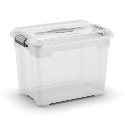 Immagine di Contenitore moover box s, con coperchio e maniglia, trasparente, 38x26,5xh29 cm