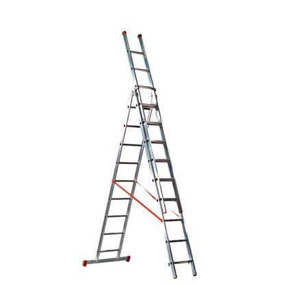 Immagine di Scala trasformabile Genia, 3x8 , gradini 30x30 mm , altezza di lavoro max 7,00 mt