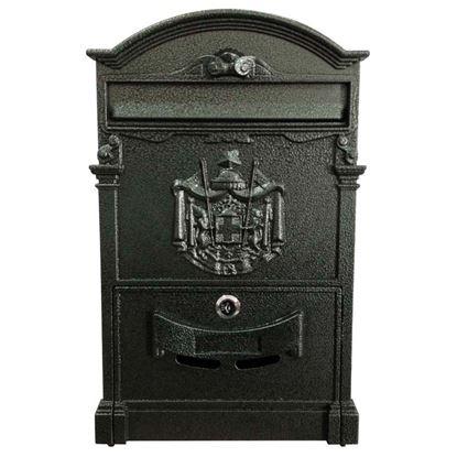 Immagine di Cassetta postale Residence, in alluminio, con serratura e cilindro, colore verde
