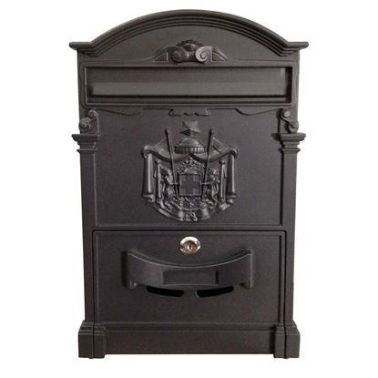 Immagine di Cassetta postale Residence, in alluminio, con serratura e cilindro, colore nero