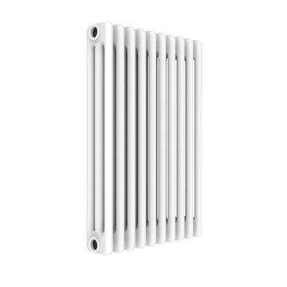 Immagine di Radiatore acciaio Warm Basic tubolare, interasse 623 mm 3 colonne di profondità 10 elementi, 697 W, colore bianco ral 9010