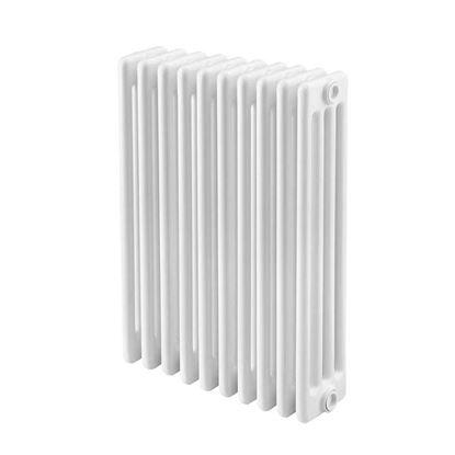 Immagine di Radiatore acciaio Warm Basic tubolare, interasse 623 mm 4 colonne di profondità 10 elementi, 910 W, colore bianco ral 9010