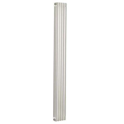 Immagine di Radiatore acciaio Warm Plus tubolare, interasse 1935 mm, 3 colonne di profondità, 5 elementi, 925 W, colore bianco ral 9010