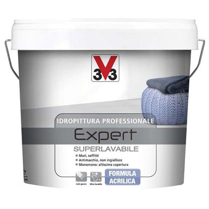 Immagine di Idropittura Expert, per muri e soffitti, monomano,  resistente a macchie e graffi, 10 lt, colore bianco opaco