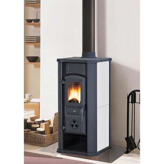 Stufa a legna royal efesto new 5 8 kw volume riscaldabile - Stufa a legna acqua calda ...