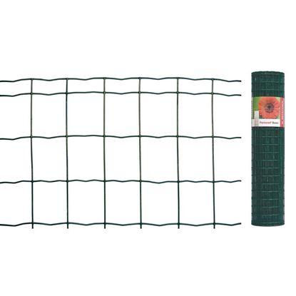 Immagine di Rete zincata plasticata, per uso residenziale, rotolo da 25 mt, maglia 76,2x63,5 mm, filo ø1,8/2,2, h 81 cm