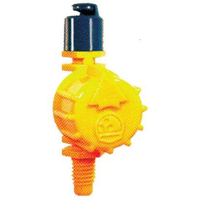 Immagine di Irrigatore mini Rain, portata regolabile, ad innesto Ø 4 mm, resistente ai raggi UV, Vari jet 180°, confezione da 5 pz