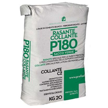 Immagine di COLLANTE RASANTE P180, a base di cemento bianco e perline di vetro espanso, interni ed esterni, sacco da 20 kg