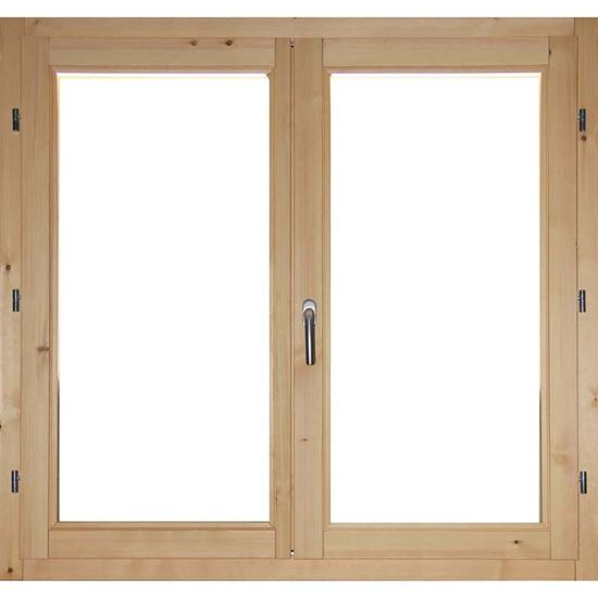 Finestra in legno pino massiccio 2 ante doppio vetro - Finestre per scale ...