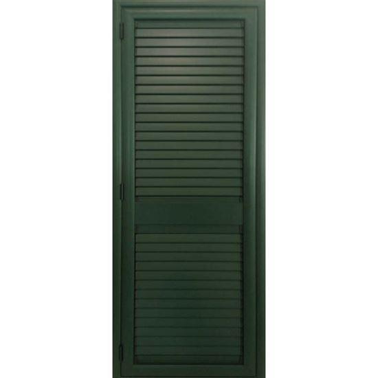 Persiana in alluminio 1 anta 80x220 cm colore verde - Finestre per scale ...
