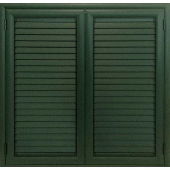 Persiana in alluminio 2 ante 100x120 cm colore verde - Finestre per scale ...