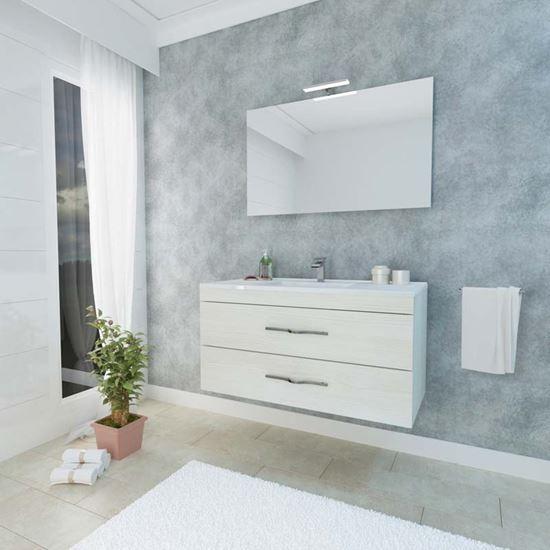 Mobile bagno sospeso Corallo 100 cm, 2 cassetti soft close, lavabo ...