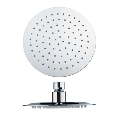 Immagine di Soffione doccia ultra slim, rotondo, in acciaio, anticalcare, Ø 200 mm