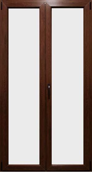 Porta finestra pvc 2 ante colore noce scuro 120xh220 cm - Finestre per scale ...
