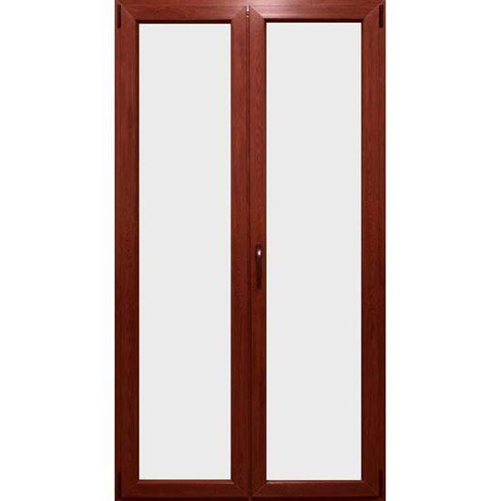 Porta finestra Pvc, 2 ante, colore rovere chiaro, 120xh220 cm, PORTE ...