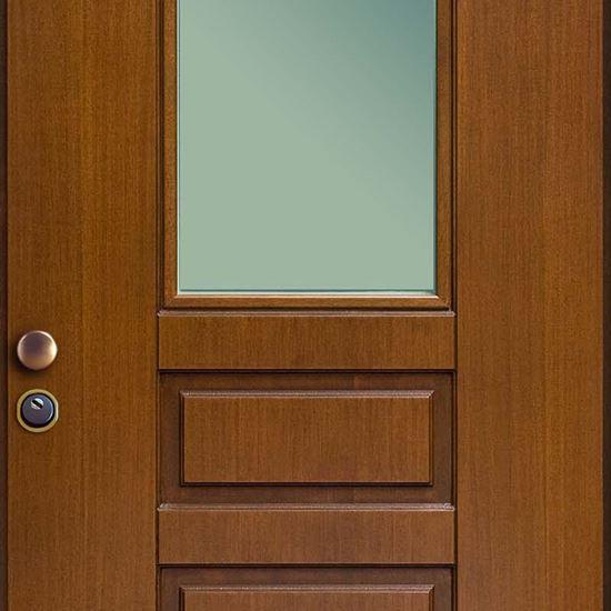 Porta blindata finestrata vetro blindato cilindro - Porta blindata esterno ...