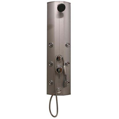Immagine di Colonna doccia idromassaggio Minerva, in pvc, deviatore 3 funzioni, doccetta, soffione, 6 getti orizzontali
