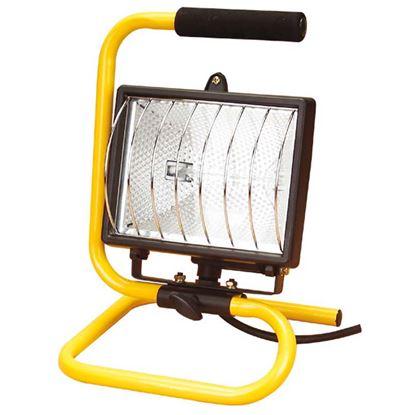 Immagine di Proiettore con supporto orientabile, lampada alogena 500 W, cavo 1,8 mt