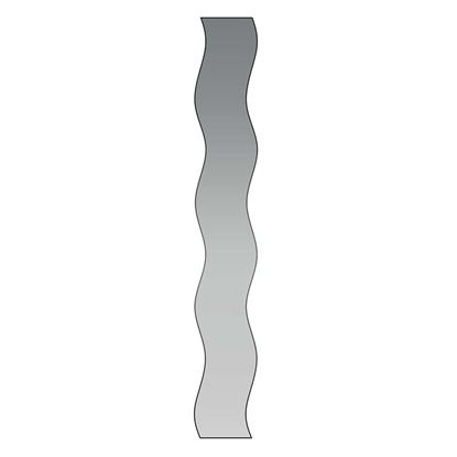 Immagine di Specchio onde, filo lucido da incollo, 120x25 cm